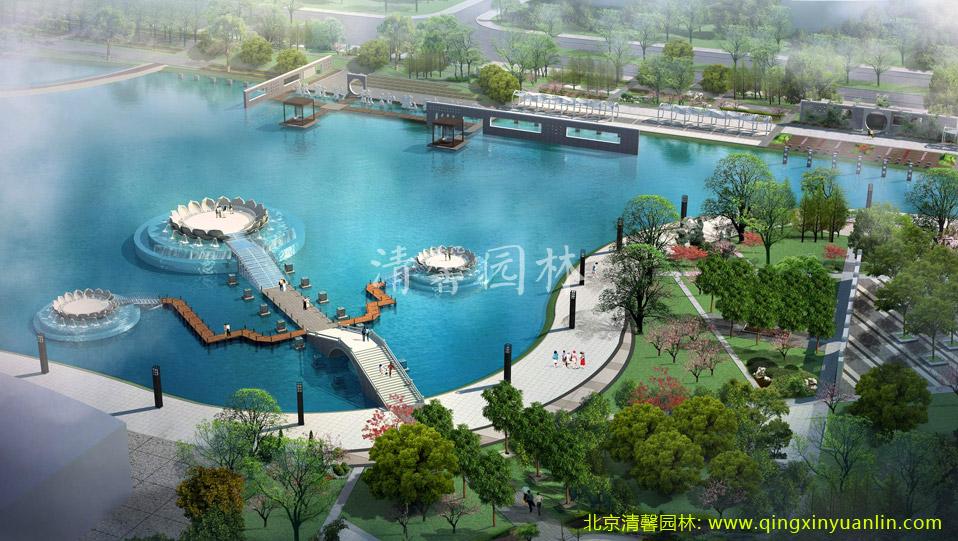 北京五环清馨园林工程案例:绍兴新城区工程案例展示