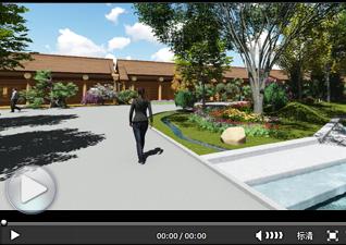 景观动画3D效果展示(花圃市场3D效果)