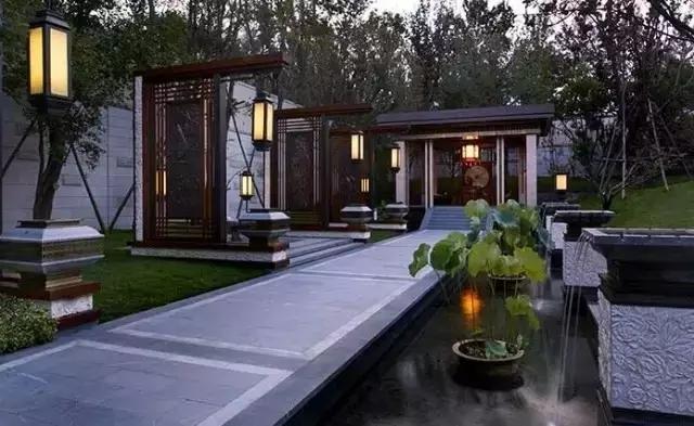 中式风格景观的设计特点和构思