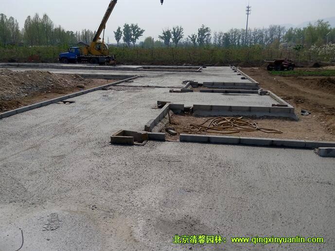 混凝土垫层施工作业