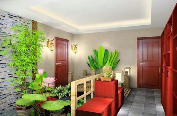 现代简约风格家居的室内绿化