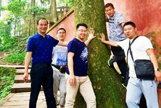 清馨园林绿化有限公司考察团四川学习考察城市生态园林建设工作