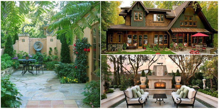 """美式庭院的气氛似乎总逃不过""""慵懒"""",在水池旁的树荫或阳伞下睡个午觉"""