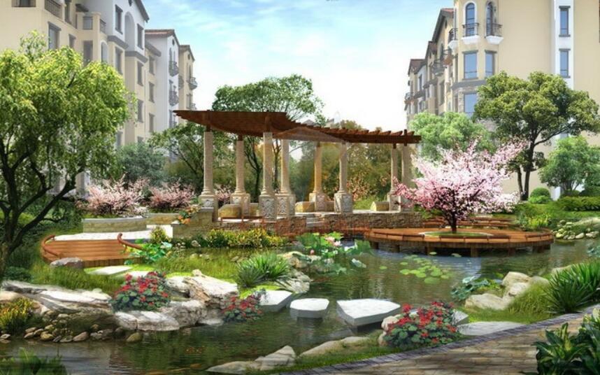 """四,小区空间设计""""立体""""风   立体化园林景观设计是针对景观平面化"""