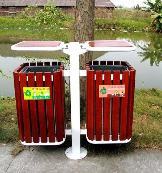 浅谈城市园林绿地中的垃圾桶