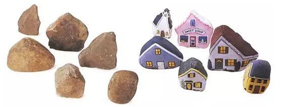 石头彩绘小房子的画法步骤——房子本来就可以是多姿多彩的